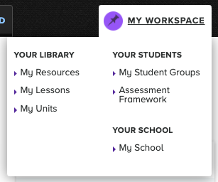 My Workspace menu item